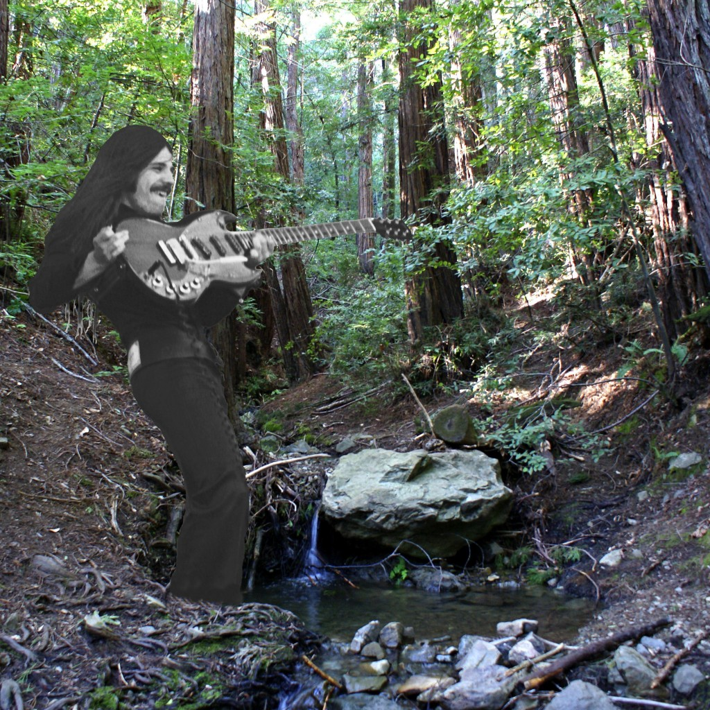 SUPER-IMPOSED PHOTO OF FRANK MARINO ON MT. TAM.  PHOTO ART BY BEN UPHAM. MAGICAL MOMENT PHOTOS.