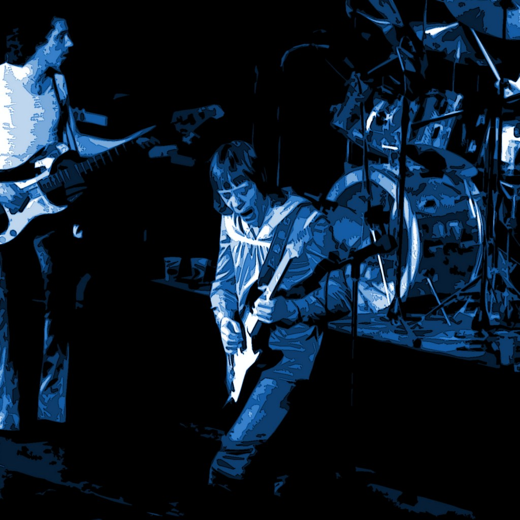 JAMES DEWAR AND ROBIN TROWER PERFORMING LIVE AT WINTERLAND IN SAN FRANCISCO ON 5-7-76. PHOTO BY BEN UPHAM. MAGICAL MOMENT PHOTOS.